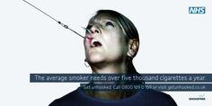 Shockvertising Smokefree Campaign - NHS: Get Unhooked (GALLERY)