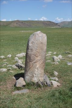 Deer stones are ancient Mongolian megaliths dating from the late second and early first millennia BC. Their name comes from their engravings of flying deer. There are five to eight hundred deer stones in northern Mongolia and Siberia.