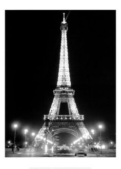 eiffel tower at night - Google Search