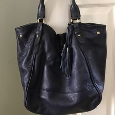 J Crew navy hobo bag Navy soft leather JCrew bag. Barely used. Excellent condition. No trades J. Crew Bags Hobos