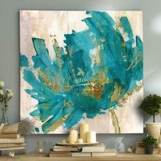 Diy Decoracion Cuadros Abstract Paintings Ideas For 2019 Acrylic Painting Flowers, Acrylic Artwork, Abstract Flowers, Abstract Paintings, Art Web, Flower Canvas, Painting Inspiration, Watercolor Art, Canvas Wall Art