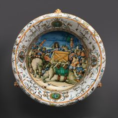 Workshop of the Fontana family | Wine cooler with A Pageant Battle with Elephants | Italian, Urbino | The Met