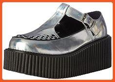 Demonia Women's Cre214/Shg-Bvl Fashion Sneaker, Slv Hologram-Black Vegan Leather, 8 M US - Sneakers for women (*Amazon Partner-Link)