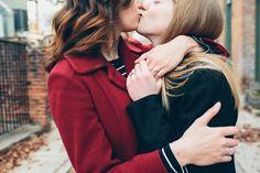 Engagement ring photos during Washington Park Cincinnati winter lesbian engagement by LGBTQ Photographer, Cassandra Zetta.