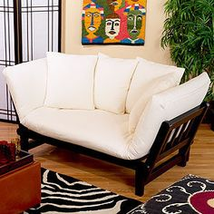 On The Look Out For A Convertible Sofa For The Living Room  This One  Transforms To A Chaise Lounge And Bed. From Cost Plus World Market.for  Bonus Room?