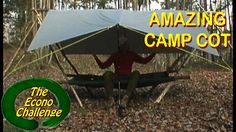 Amazing Wilderness Camp Cot - Simple Raised Bed Bushcraft Shelter