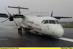 United Airways ATR-72-212, no injuries.