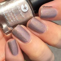 Nude holo from @lilypadlacquer - Cashmere Coat - this stunner is available now at www.lilypadlacquer.com ❤️ #prsample #indieswatch #indienails #lilypadlacquer