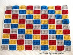 How to crochet lego blanket free pattern tutorial haga ganchillo lego, My Crafts and DIY Projects