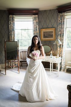 Beautiful bride ready for her wedding day! Vintage wedding at Scampston Hall, © Jay Emme Photography