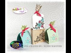 Egg Crates with the Scalloped Tag Topper Punch from Stampin Up