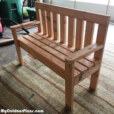 Plans of Woodworking Diy Projects - DIY 2x4 Wood Garden Bench | MyOutdoorPlans | Free Woodworking Plans and Projects, DIY Shed, Wooden Playhouse, Pergola, Bbq Get A Lifetime Of Project Ideas & Inspiration!