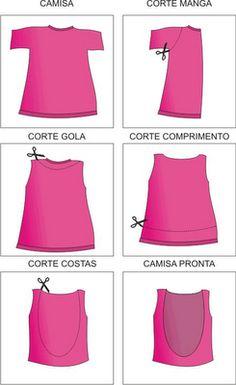 Customização de roupas velhas - Passo a Passo Para reaproveitar roupas velhas, incluindo peças que muitas vez...