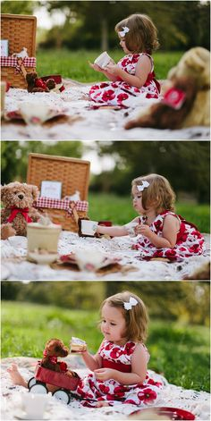 kym vitar {photography}: Lake Balboa, CA children's photography: a teddy bear picnic Little Girl Photography, Toddler Photography, Photography Ideas Kids, Tea Party Photography, Outdoor Baby Photography, Photography Mini Sessions, Photography Props, Photo Sessions, 2nd Birthday Photos