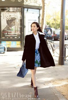 love her black coat here