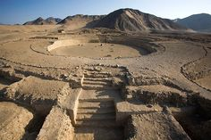 Caral _ is located in the Supe Valley, 200 kilometers north of Lima, Peru. The civilization of Caral, the oldest on the South American continent. The Sacred City of Caral has an average length of between 2627-2100 BC approximately.