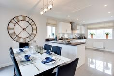 The kitchen in The Henever at Wellington Park in Bloxham | Bovis Homes