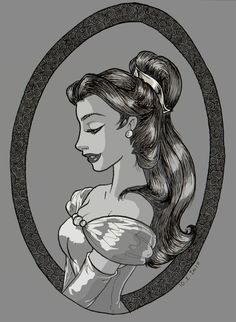Belle in black and white by TaijaVigilia on deviantART