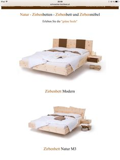 das zirbenbett loden von schröcker tischlerei wird aus