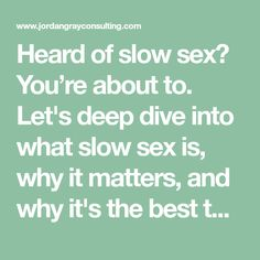Heard of slow sex? You're about to. Let's deep dive into what slow sex is, why it matters, and why it's the best thing you could ever do for your sex life.