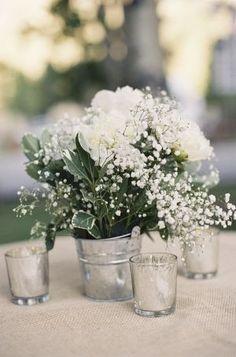 "RoseNerds.com Galvanized Metal | 2016 Floral Design Trend: ""Lustre"" | Wedding Decor"