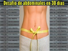 Reto abdominales Fitness Tips, Fitness Motivation, Health Fitness, Fitness Models, Cardio, Keep Fit, Loose Weight, Gym Time, Perfect Body