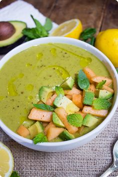 cantaloupe avocado soup