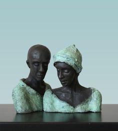 bronzen beelden Kieta Nuij | Beeldhouwer Kieta Nuij Human Sculpture, Sculptures Céramiques, Modern Sculpture, Sculpture Clay, African Pottery, Pottery Sculpture, Dutch Artists, Naive Art, Couple Art