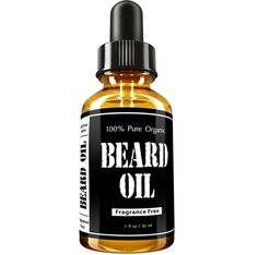 Leven Rose Beard Oil and Leave-In Conditioner - Best Beard Oil Fragrance Free - 100% Pure Organic Natural Unscented for Groomed Beard Growth, Mustache, Skin for Men - 1 Oz - Jojoba and Argan Oil