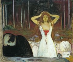 Edvard Munch - Ashes (1895). Soul into paintings