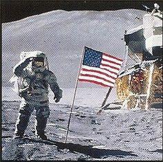 Armstrong walks on the moon