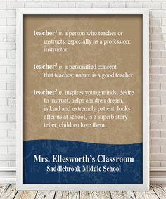 Look what I found on #zulily! Teacher Definition Personalized Print #zulilyfinds