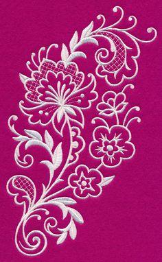 Floral Fashions Spray (Whitework)