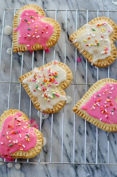 Heart Shaped Pop Tarts with Sprinkles #loveisallyouneed