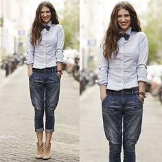 #stealthelook #look #looks #streetstyle #streetchic #moda #fashion #style #estilo #inspiration #inspired #azul #gravata #borboleta #bowtie #jeans #camisa
