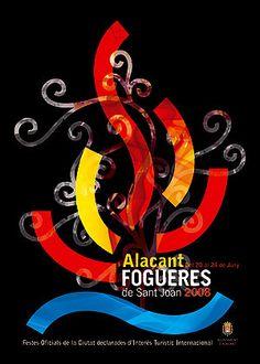 Cartel de Hogueras del año 2008 Alicante.