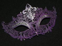 Purple Masquerade Mask with Glitter Accents by TheCraftyChemist07, $41.95