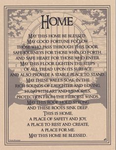 HOUSE BLESSING Parchment Page for Book of Shadows!  pagan wicca witch