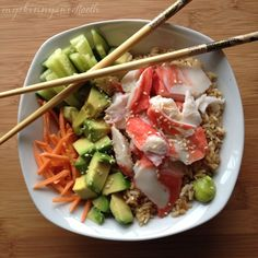 "A sushi bowl is the perfect ""sushi"" meal for us lazy folk (me!) who hasn't grasped the concept of making actual sushi. I've tried once or twice and it was tasty, but the presentation was somewhat l..."