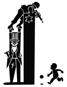 Israel-Palestine Conflict through ART: TOTAL DISPROPORTIONATE Justice • art by Jordan Worley