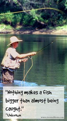 Tossing flies and tell in lies!!! Get this quote on a fly box. http://rivertraditions.com/product-category/fly-boxes/