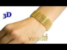 Tutorial shows how to make a Beaded Bracelet with Seed & Bugle Beads. Beaded Bracelets Tutorial, Beaded Bracelet Patterns, Seed Bead Bracelets, Seed Bead Jewelry, Bead Jewellery, Jewelry Patterns, Beaded Necklace, Bead Patterns, Pearl Jewelry