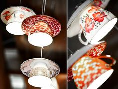 DIY LAMPEN SELBER machen lampe diy lampenschirm  selber machen teegeschirr