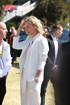 Charlize Theron attends the Australian Formula One Grand Prix at Albert Park on March 15, 2015 in Melbourne, Australia.