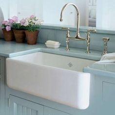 $150 REBATE on Shaw's Fireclay Sinks through August 15 PLUS an additional $100 REBATE if purchased with a Perrin & Rowe Faucet! See your local Ultimate Bath Store for details. #rohlkitchensinks #shawsfireclaysinks #kitchenremodel #perrinandrowefaucets