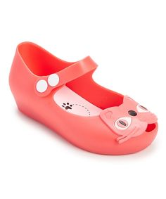 cc78e9577f4fe9 Kitty-cat loving girls will pounce for these flats adorned with a friendly  face.