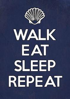 CAMINO DE SANTIAGO Walk eat, sleep and repeat.