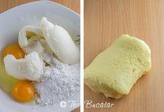 preparare cosulete cu nuca si gem Dairy, Eggs, Cheese, Breakfast, Food, Sweets, Morning Coffee, Essen, Egg