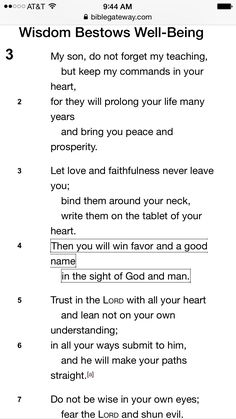 Proverbs 3:1-7