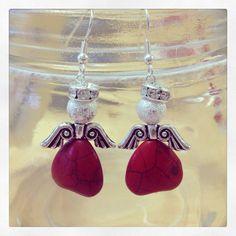 Christmas Angel Earrings on Etsy, £5.00